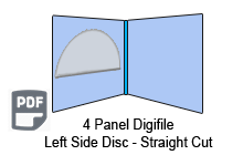 4 Panel CD digifile left hand pocket