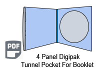 4 Panel CD Digipak 1 Disc with Tunnel Pocket