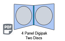 4 Panel CD Digipak 2 Disc