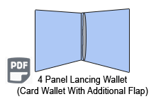 4 Panel CD Card Wallet 1 Disc