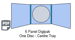 6 Panel CD Digipak Centre Tray
