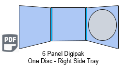 6 Panel CD Digipak 1 Disc