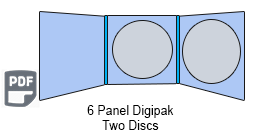 6 Panel CD Digipak 2 Disc