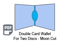 4 Panel CD Card Wallet 2 Disc