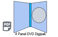 4 Panel DVD Digipak