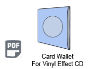 Vinyl Effect CD Card Wallet