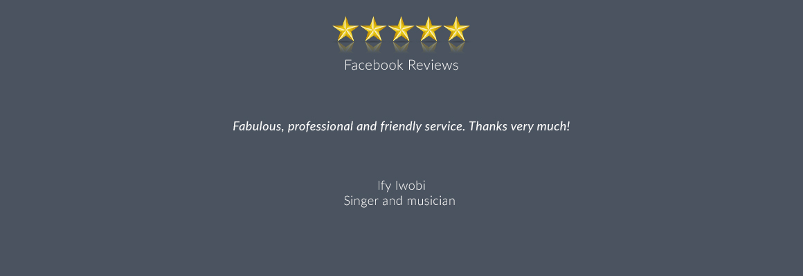 Fabulous, professional and friendly service. Thanks very much!